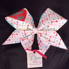 Cheer Luv bow Cupids arrow bow cracked ice dye by B3BowsMaine