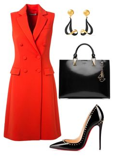 style theory by Helia by heliaamado on Polyvore featuring мода, Altuzarra, Christian Louboutin, Karl Lagerfeld and Marni