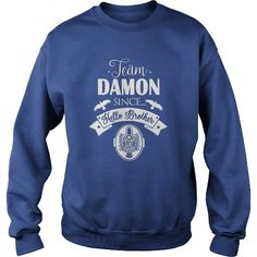 Awesome Tee Team Damon Since Hello Brother Damon Salvatore TVD T shirts