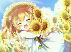 anime, cat, and girl image Anime Neko, Manga Anime Girl, Anime Child, Art Anime, Kawaii Anime Girl, Anime Girls, Loli Kawaii, Kawaii Chibi, Cute Chibi