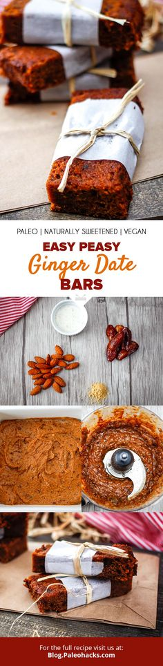 Ditch sugar-packed snack bars and indulge in these rich Ginger Date Bars for a wholesome snack that balances both taste and nutrition! Get the full recipe here: https://paleo.co/gingerdatebars
