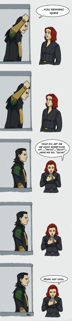 Heh... 😅😅😅 #loki #blackwidow #avengers #funny