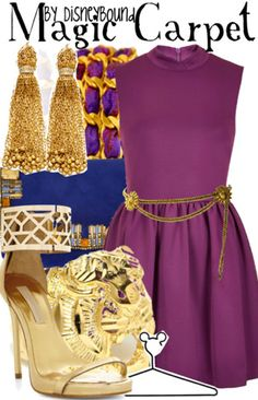 Disney Bound: Magic Carpet from Aladdin Disney Character Outfits, Disney Themed Outfits, Character Inspired Outfits, Disney Bound Outfits, Disney Dresses, Disney Clothes, Aladdin Et Jasmine, Princess Jasmine, Disney Inspired Fashion