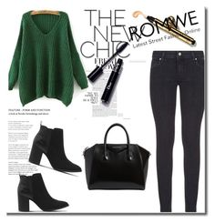 """""""Romwe 3"""" by ajisa-ikanovic ❤ liked on Polyvore featuring Paige Denim, Givenchy and Office"""