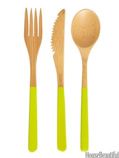 Kitchen Gadgets Under $20 in House Beautiful including Core Bamboo Cutlery