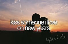 Kiss my love on new years