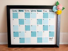 Paint Chip Calender Dry Erase Board