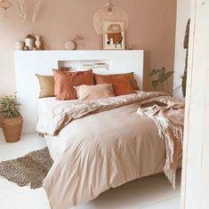 Earthy Bedroom, Warm Bedroom, Aesthetic Bedroom, Trendy Bedroom, Bedroom Decor, Bedroom Brown, Blue Bedroom, Brown Bedrooms, Bedroom Ideas For Small Rooms Women