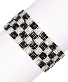 Black & Silver Cameron Beaded Bracelet