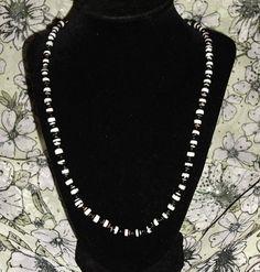 Zebra-Striped Beaded Necklace by AdamantArtistry
