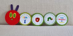 The very hungry caterpillar invitation Raupe Nimmersatt Einladung