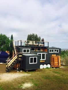 This is Sean & Angie Johnson's Tiny House: The Casa Paspin. The couple spent 8 months building the self-designed creation, and just moved in this January. They are already loving their ti…