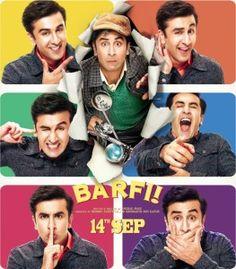 Watch latest Hindi movie Barfi 2012 of Ranbir Kapoor, Priyanka Chopra as Jhilmil, Ileana D'Cruz, Rupa Ganguly, Rahul Garg, Saurabh Shukla, Sumona Chakravarti