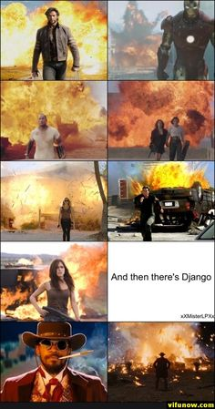 Explosions in movies its true the more u ignore it the cooler u look unless your django then just cool any way The Best Films, Great Films, Funny Texts, Funny Jokes, Hilarious, Super Funny, Funny Cute, The Stranger Movie, Movies And Series