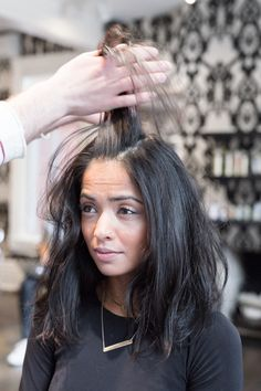 """A Hangover Hairstyle Tutorial You Don't Even Have to Brush Your Hair For: What about the days when """"one drink after work"""" turns to five? Stylist Chris Wood from Toronto-based Medulla & Co. salon created the perfect hangover hair look that doesn't even require a hair brush. Think of it as putting the """"hot"""" back in """"hot mess.""""   coveteur.com"""