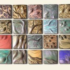 handmade, ceramic wall art tile by Natalie Blake Studios