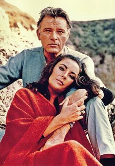 Elizabeth Taylor and Richard Burton. Hollywood legends: The turbulent union between Burton and Taylor went on to become one of the 20th century's greatest love stories, with the pair marrying - and divorcing - twice after first meeting on the set of Cleopatra in 1963.