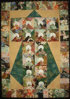 rising moon kimono quilt