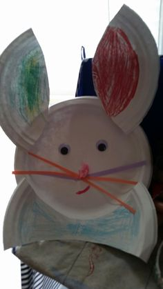 Bunny from paper plates