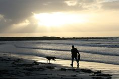 man and dog by geir tønnessen