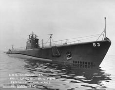 USS Skipjack Salmon-class submarine off Provincetown, Massachusetts during sea trials, May (wikipedia. Navy Careers, Us Navy Submarines, Us Navy Ships, Navy Girlfriend, Navy Military, Military Spouse, United States Navy, Marine Corps, World War Two