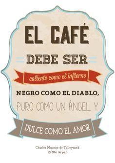 Buenos días! Nada mejor para llenar nuestras bonitas tazas en una mañana como hoy que un buen café #frases #café #ollodepez