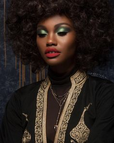 """Subculture Palette   shadow """"Electric"""" on top of shadow """"Axis""""  Brow Pencil in Dark Brown on brows  Foundation is ABH Stick Foundation in """"Ebony"""" Liquid Glow in Bronzed Liquid Lipstick in """"American Doll"""" ✨CD: @norvina ✨PHOTO: @brianziff ✨MUA @anthonymerante ✨HAIR: @robsalty ✨MODEL: @modelomilano  #abhsubculture"""