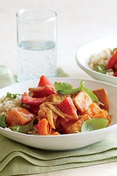 Nutty whole grains make a perfect bed for a bowl of saucy winter veggies in this cozy one-dish meal of Winter Squash and Tofu Panang Curry.#winter #winterrecipes #winterrecipeideas #winterfoods #wintermeals Best Curry Recipe, Panang Curry Recipe, Curry Recipes, Asian Recipes, Vegetarian Main Dishes, Vegetarian Recipes, Healthy Recipes, Savoury Recipes, Tofu Recipes