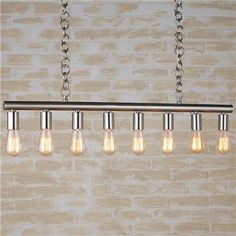 Basement - Bulb Bar Island Chandelier contemporary chandeliers