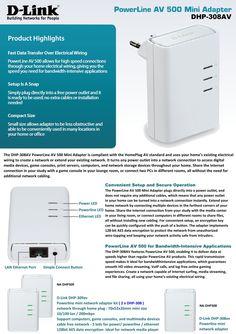 Powerline AV 500 mini Adapter