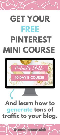 This free 10-day Pinterest mini course gives you all the tips and tricks you need to set up a solid account to creating pins that people love to share.