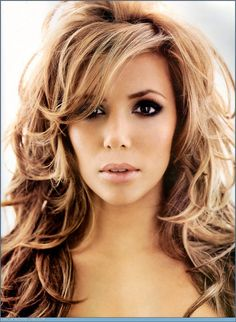 Eva Longoria's blond with dark undertones hair. Pretty Layers