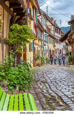Eguisheim, Haut-Rhin, Alsace, France, Europe - Stock Image