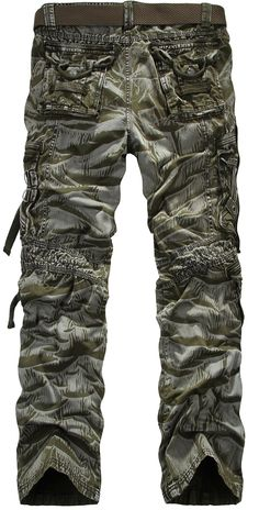 OnSaleWear Mens Vintage Military Army Hunting Camouflage Cargo Combat Pants Cargo Pants for men