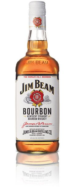 """Jim Beam® Kentucky Straight Bourbon   WHAT IS BOURBON? Bourbon is kinda like whiskey's """"sweet spot."""" Why? Well, first, because corn is a sweet grain. The more corn, the sweeter the whiskey. Also, it's tougher to make bourbon than whiskey. In fact, the government actually has standards for """"Straight Bourbon Whiskey.""""  By law, bourbon must be:  Produced in the USA Made of a grain mix of at least 51% corn Distilled at less than 160 proof (80% ABV) No additives allowed (except water to reduce…"""