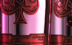 Armand de Brignac rose Expensive Champagne, Champagne Brands, Pink Champagne, Armand De Brignac Rose, Gold Bottles, Sparkling Wine, White Wine, Pink And Gold, Wines