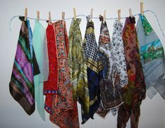 Vintage Scarf Collection of Ten Fun to by CheekyVintageCloset, $28.00