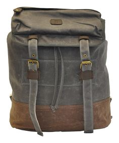 Take a look at this J. Campbell Olive & Brown Backpack on zulily today!
