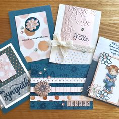 More samples from Simon Says Stamp Oct 2017 Card kit . Oct 2017, Simon Says Stamp, Card Kit, Hug, Appreciation, Encouragement, Gift Wrapping, Sayings, Cards