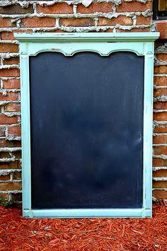 Chalkboard out of old dresser mirror, CHALKBOARD INGREDIANTS ARE ON MY BOARD UNDER CRAFTS.