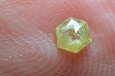 3.5mm 0.14ct Yellow Hexagon rose cut Diamond