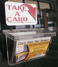 Business card holders adbox display market using coupon cards qty 3 outdoor business card box display car auto truck with take a card sticker colourmoves Gallery