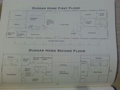 images about Duggar house on Pinterest   Duggar family    Duggars first and second floor plan  Absolutely love  Want that many kids and that big of house