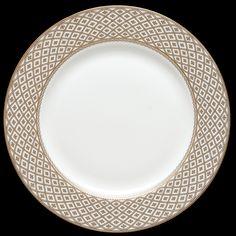 Marcella dinnerware, featuring a delicate gold pattern.   RRP Tableware | BELLA VITA, Porcelain | Marcella, gold