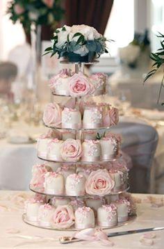 Pasteles de boda en miniatura