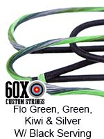 fluorescent green and green kiwi silver with black serving custom bow stiring