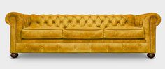 The Fitzgerald packs all the classic Chesterfield style in with a few modern updates like its taller sloped back and softer sit that boost comfort & luxury Chesterfield Style Sofa, Leggett And Platt, Classic Gold, Sofa Design, Timeless Design, Old School, Custom Design, Design Inspiration, Iron