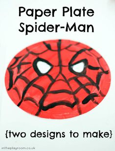 Paper Plate Spider-Man craft for kids to make. Perfect for those who love spiderman. Made by my 3 year old