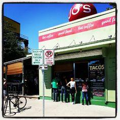 Jo's Coffee in Austin, TX S. Co location of Jos. Still get a Belgian Bomber