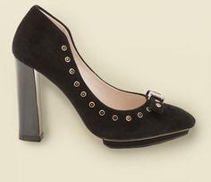 Clarks Azizi Immy, schwarze Wildlederpumps mit Art-Deco Details, trendige Business-Schuhe für Damen #FS14